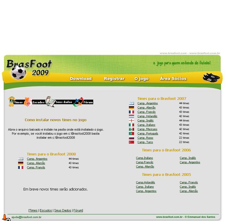 ligas do brasfoot 2009 para